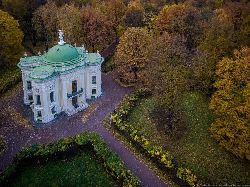 Kuskovo Palace in Autumn from Birds Eyes View [30 photos]