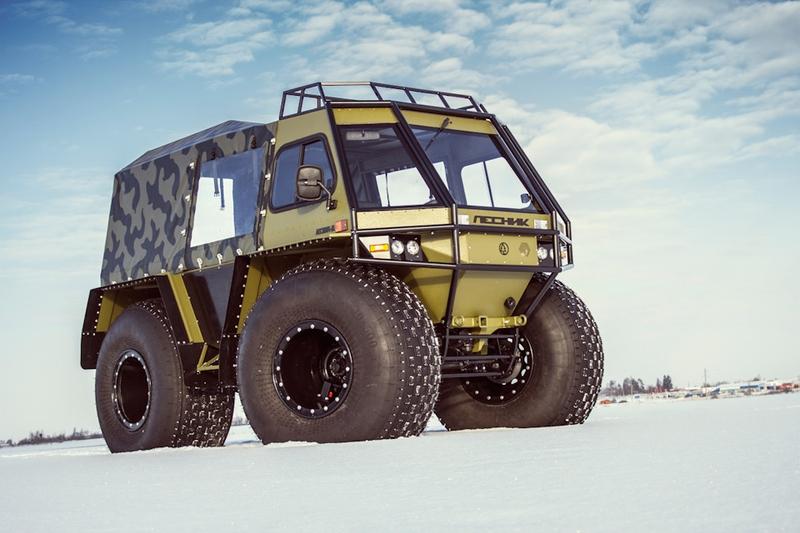 """Russian """"Lesnik"""" All-Terrain Car"""