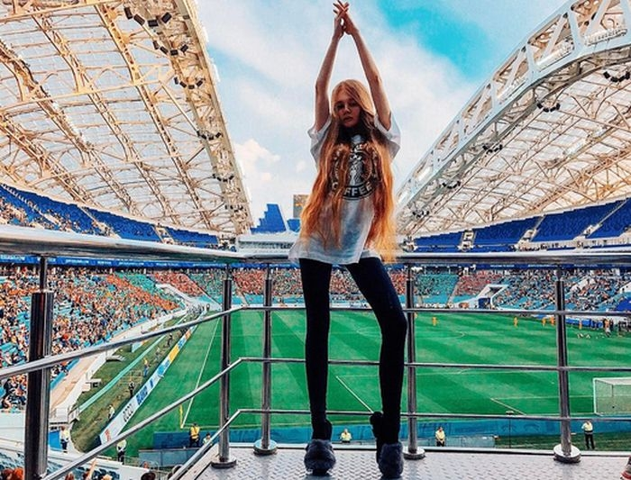 Russian Football Fan Ladies