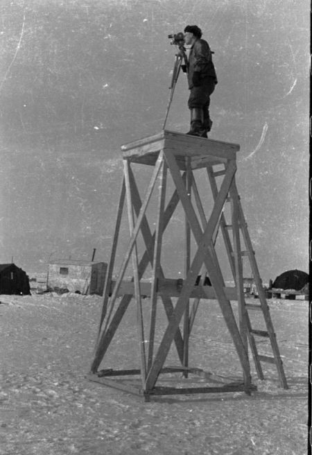 Soviet Explorers on the North Pole
