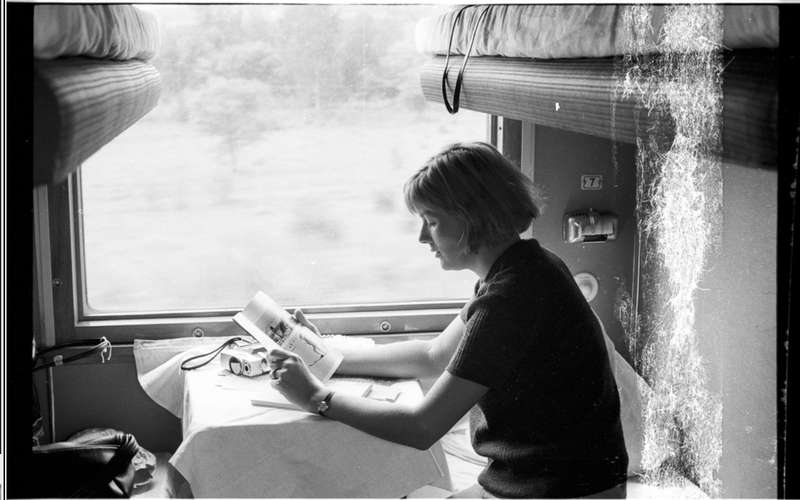 Photos of the Foreigner Traveling Thru Trans Siberia Railway in 1965