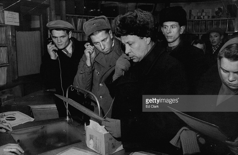 Inside the Soviet stores (photos).