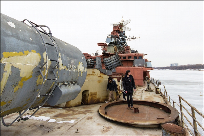 An Abandoned Warship Near Moscow