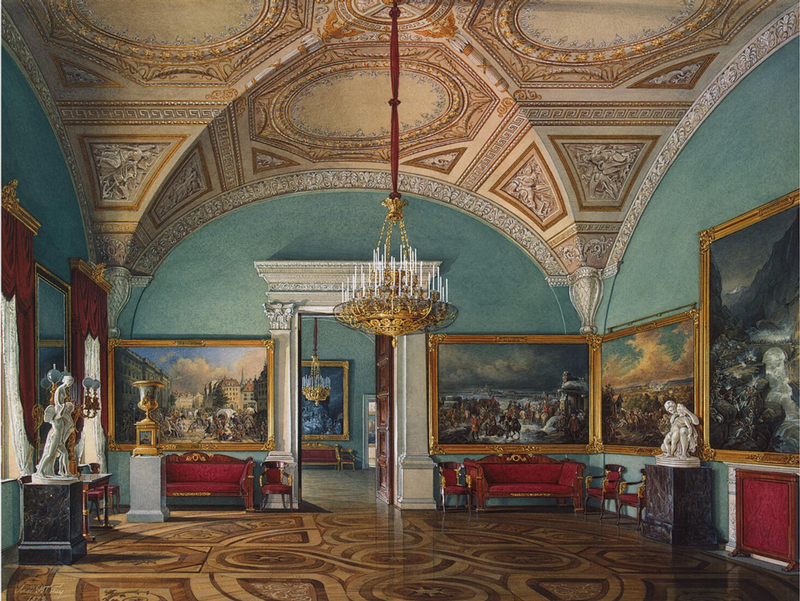 Interiors of Winter Palace and Hermitage