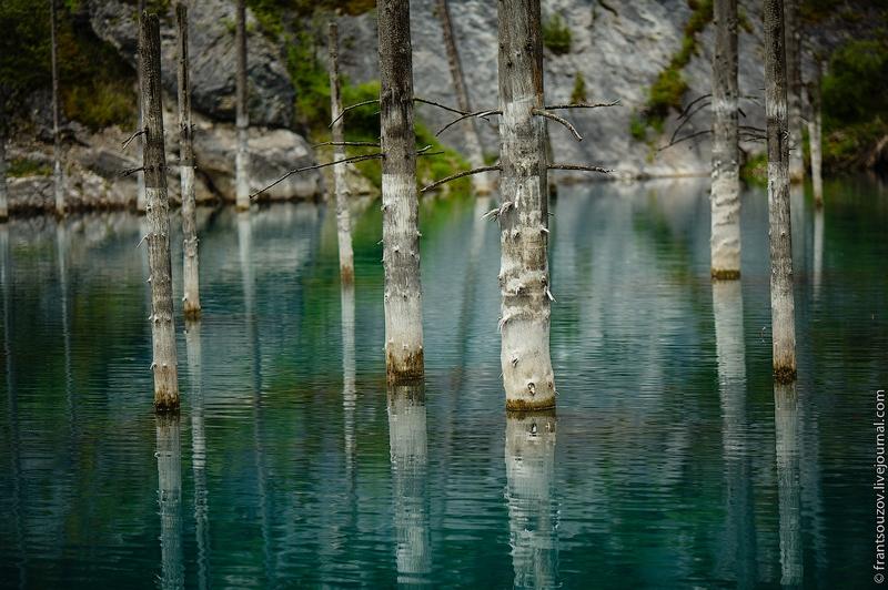 Kaindi  the Mountain Lake with Sunk Trees