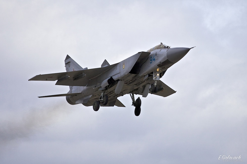 Takeoff and Landing of MiG-31