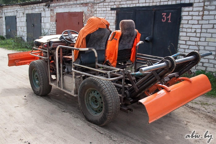 Man in Polotsk Belarus Builds a Tractor Himself