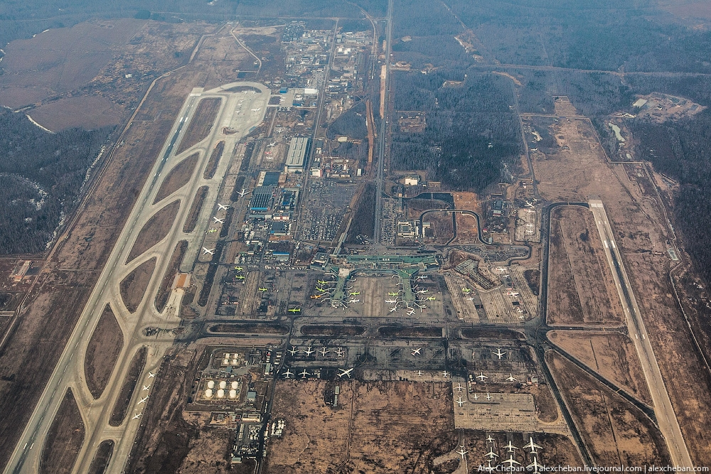 Moscow Airport Domodedovo From Above English Russia