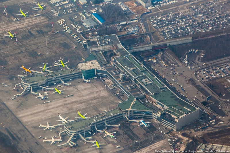Moscow Airport DOMODEDOVO from Above