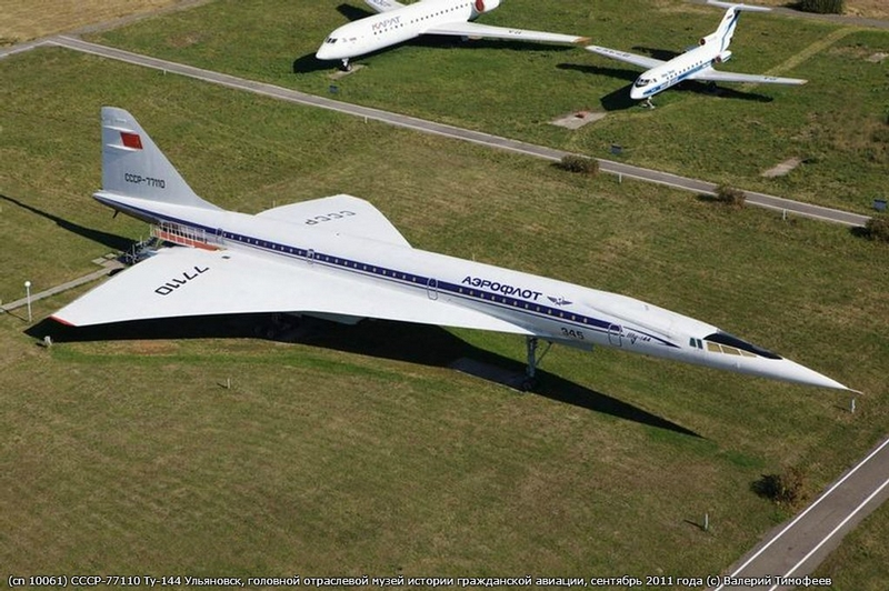 One of Russian TU-144 Supersonic Passenger Jets