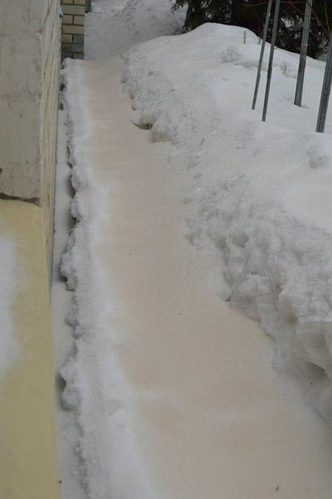 Orange Snow in City of Saratov