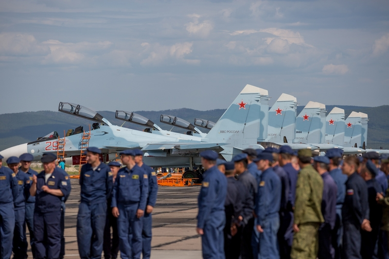 Day on the Russian Strategic Airbase DOMNA