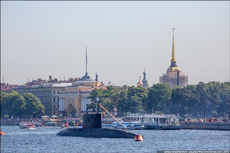 Russian Navy Day in St. Petersburg, 2014