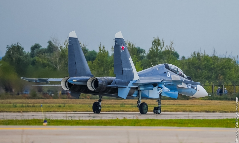 Russia's Newest Su-30SM Number 38 in an Air Show