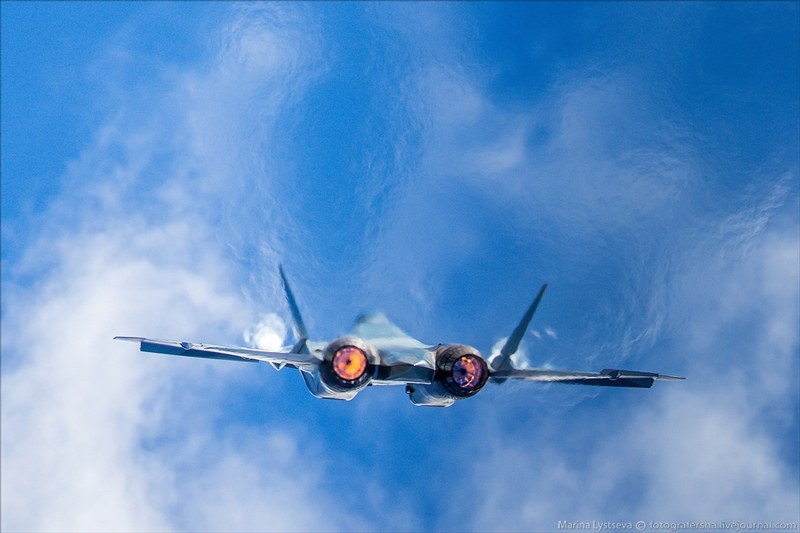 Russian SU Jets on MAKS 2015 Air Show