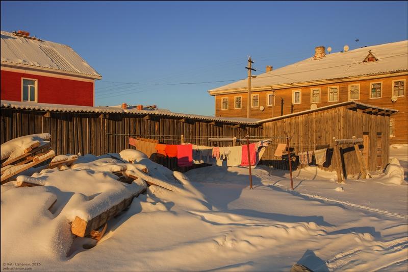 Russian Solovki Islands in Winter