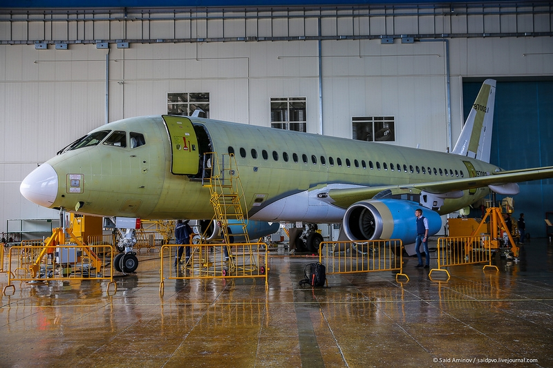 Inside the Factory Producing Russian Passenger SU Jets Sukhoi Superjets