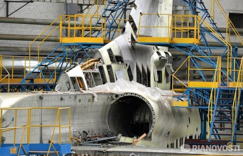 Russian TU-160 Bombers at Repairs Shop