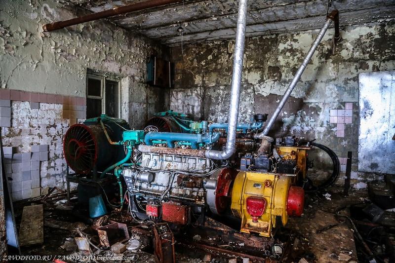 Abandoned tropospheric station under the Anadyr
