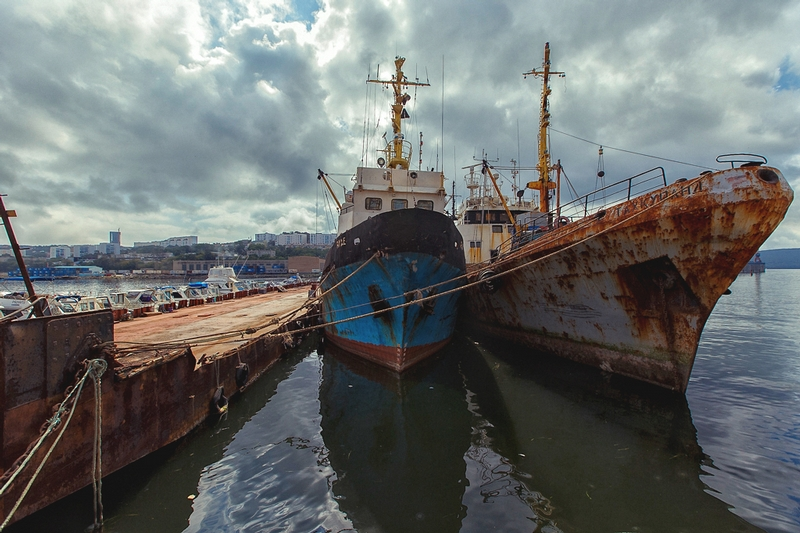 Old Russian Ships in Vladivostok