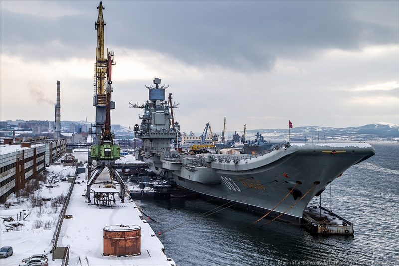 Russian Aircraft Carrier Admiral Kuznetsov Goes on Repairs