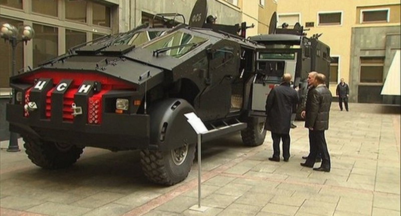 Russian Army Batmobile Spotted in Dagestan (photos)