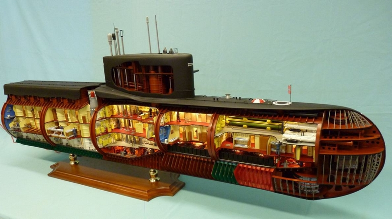 A Very Detailed and Huge Atomic Submarine Model