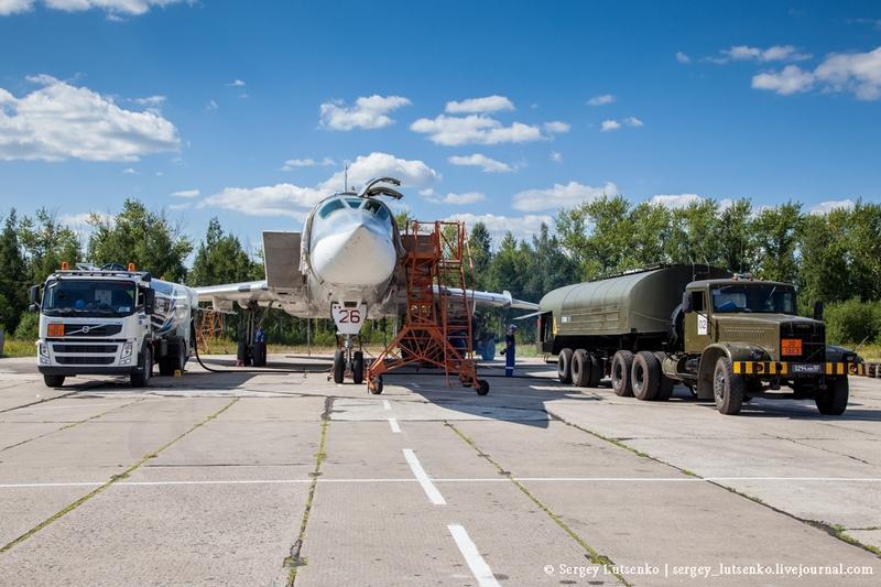 Russian Bombers Preparing to Take Off