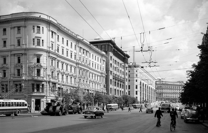 Russian Capital Moscow in 1950s