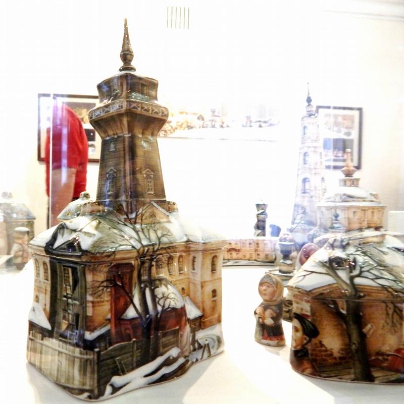 City Made of Porcelain Ceramics