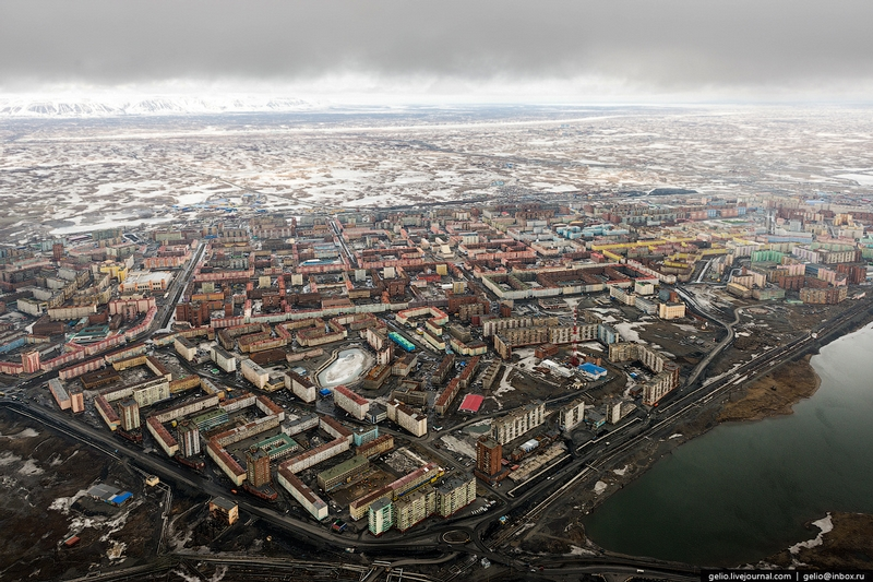 Biggest Northernmost Russian City From Above