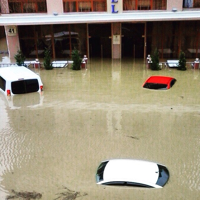 Sochi the Olympic City Got Massively Flooded Today