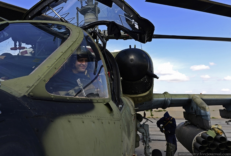 Russian Combat Helicopters KA-52s  Being Prepared
