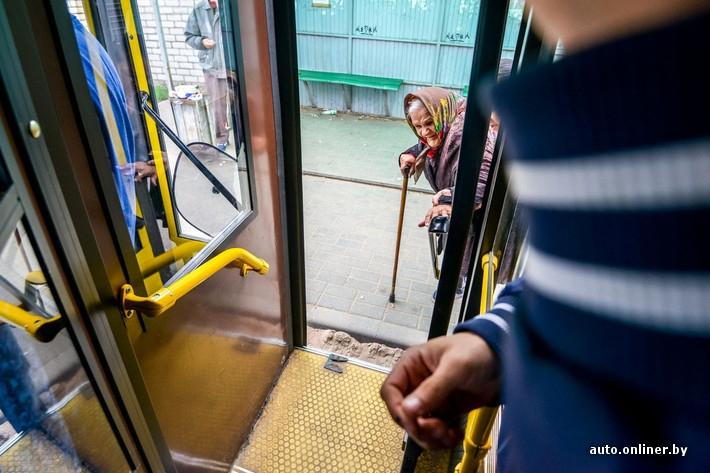 A Blonde Bus Driver in Belarus