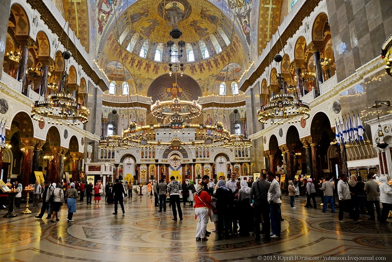 Inside of the Russian Great Kronshtadt Cathedral