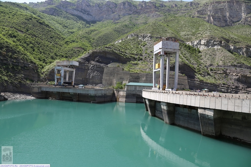 Hydro Station on Azure Waters