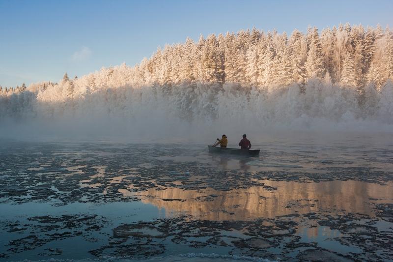 Russian Kayaking in -27 Outside