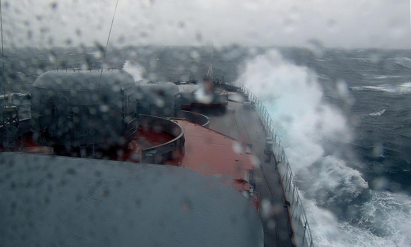 Fleet Goes thru Storm