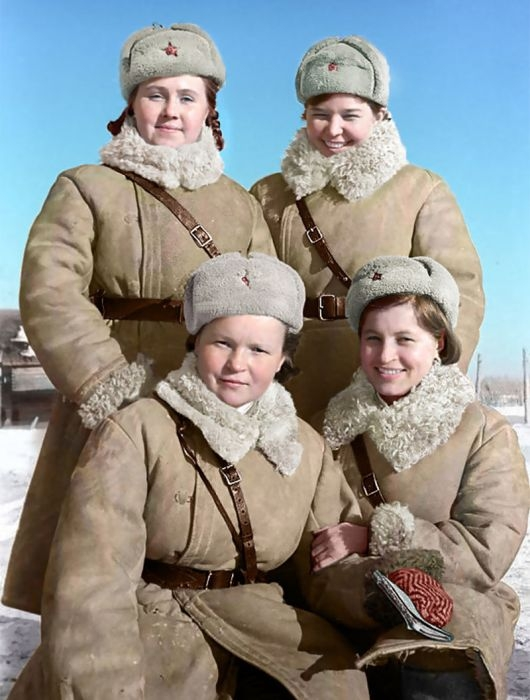 Russian Colorized Photos of 1900-1955