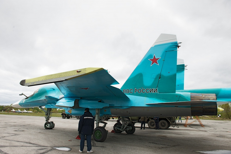 Production of Russian SU-34 Fullback Twin Engine Strike Fighters