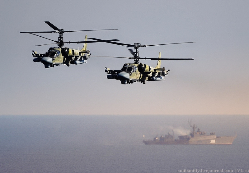 Russian Tactical Drill on Pacific Coast