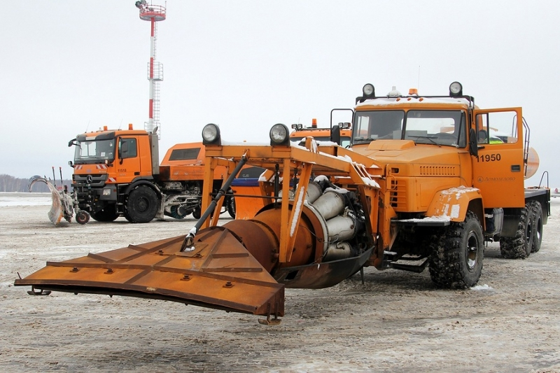 Russian Airport Trucks with Jet Engine