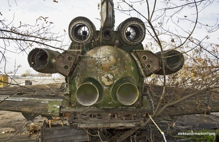 In The Woods there is an Abandoned Buran Shuttle  Made of Wood
