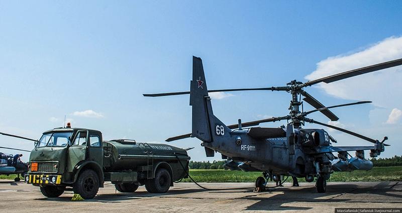 Sky predators Ka-52 at the Combined Air Base No. 50