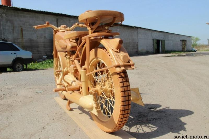 Motorbike Made of Wood