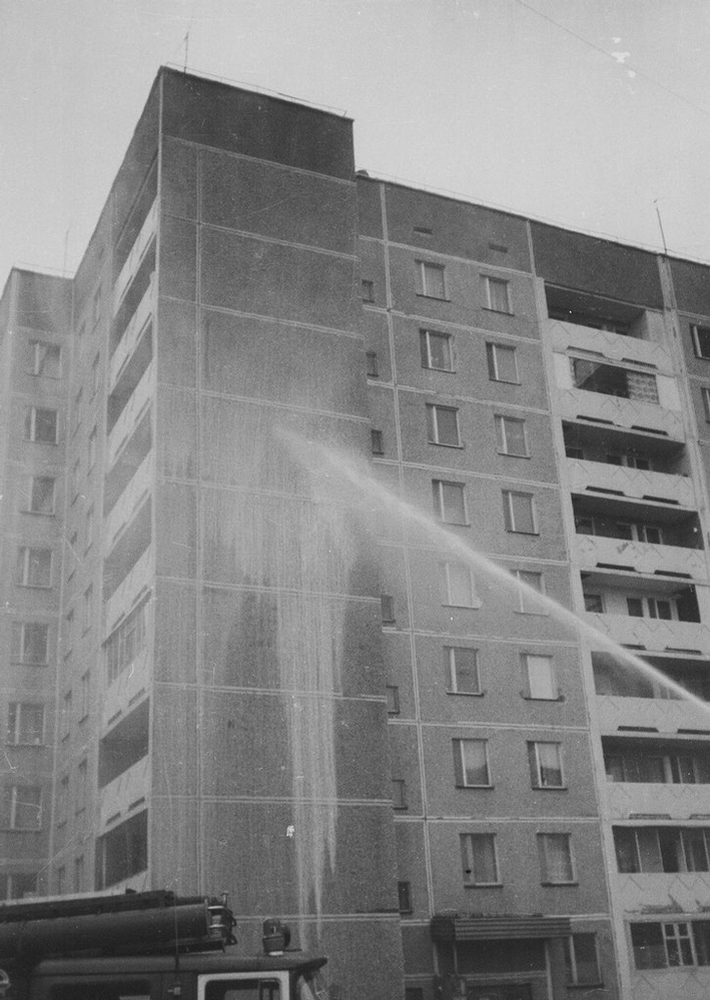 Firefighters in Pripyat Cleaning up the Initial Contamination