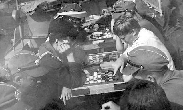 Soviet Sailors During Rest
