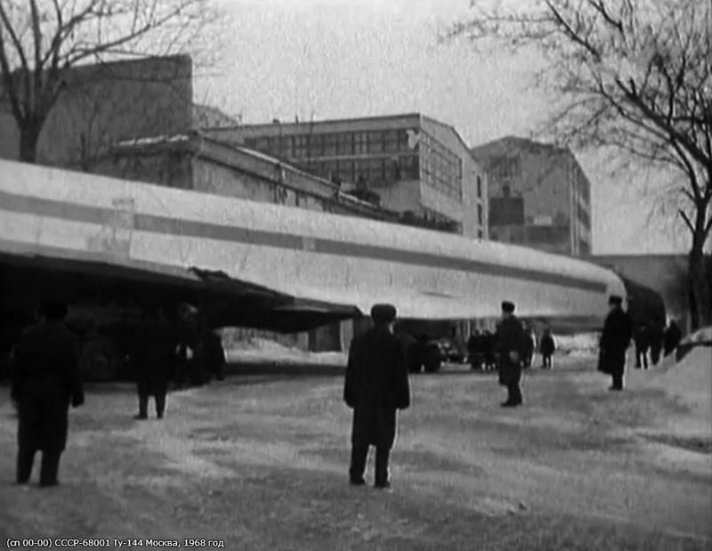 First TU-144 Body Transported thru Moscow