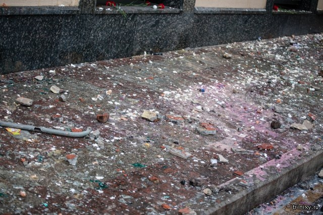 Turkish Consulate in Moscow Was Stoned and Had Bottles Thown Through  It'  Windows