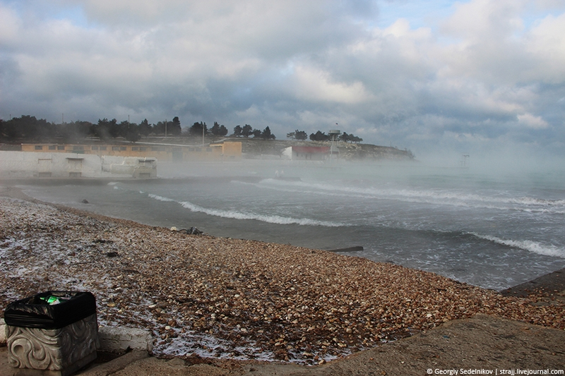 Steam Over Water in Crimea These Days